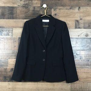 TAHARI ASL Button Down Black Blazer  Size 4